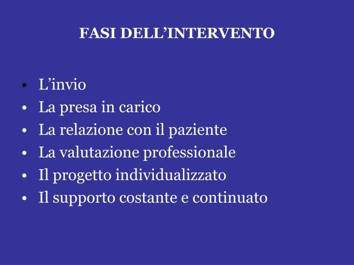 FASI DELL'INTERVENTO