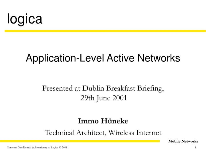 application level active networks