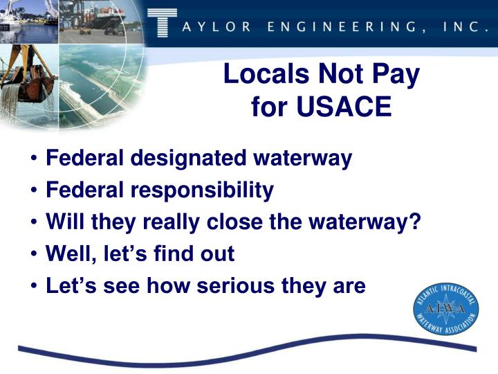 Locals Not Pay