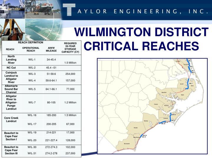 WILMINGTON DISTRICT CRITICAL REACHES