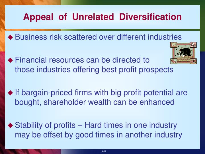 Appeal  of  Unrelated  Diversification