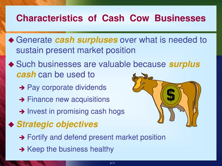 Characteristics  of  Cash  Cow  Businesses