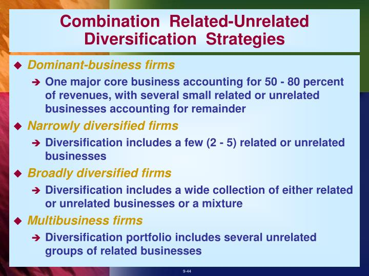 Combination  Related-Unrelated  Diversification  Strategies