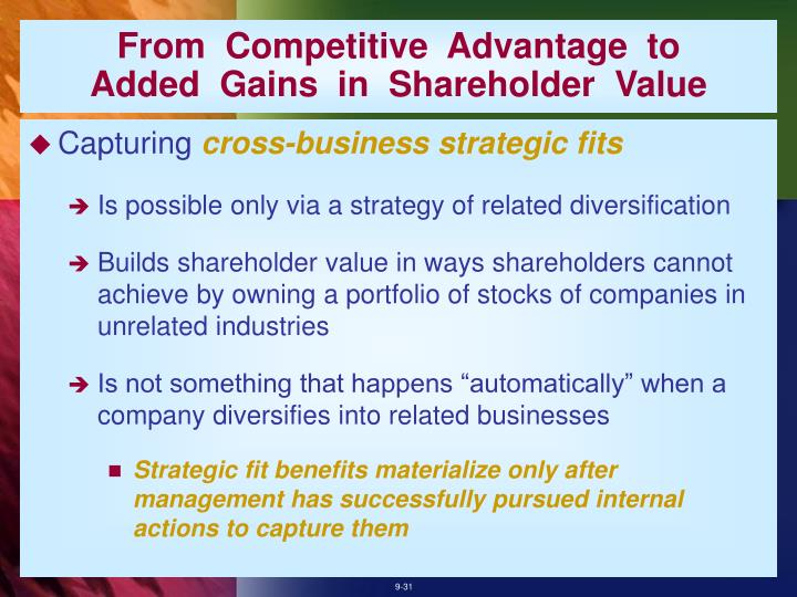 From  Competitive  Advantage  to