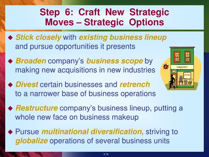 Step  6:  Craft  New  Strategic