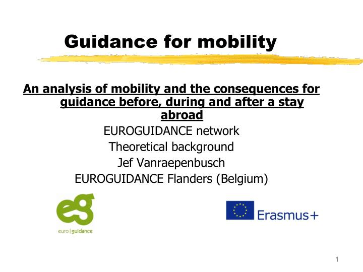 guidance for mobility n.