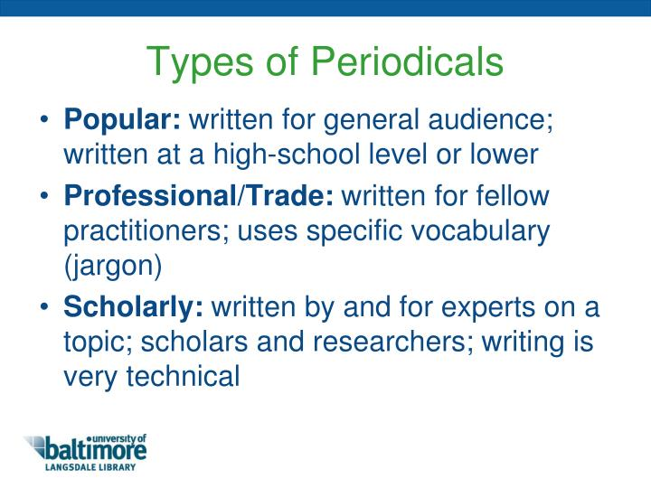 Types of Periodicals