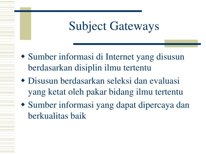 Subject Gateways