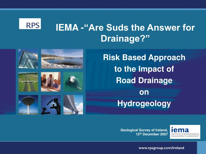 iema are suds the answer for drainage n.