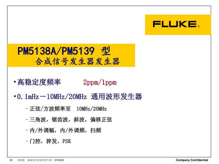 PM5138A/PM5139 型