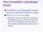 price competition persaingan harga