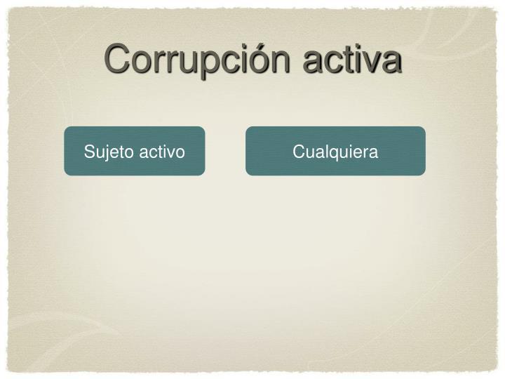 Corrupción activa