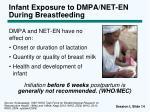 infant exposure to dmpa net en during breastfeeding