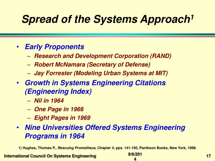 Spread of the Systems Approach