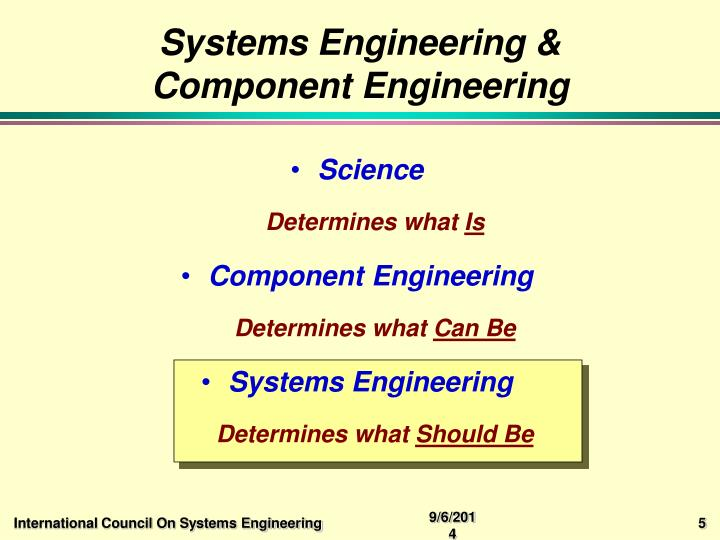 Systems Engineering & Component Engineering