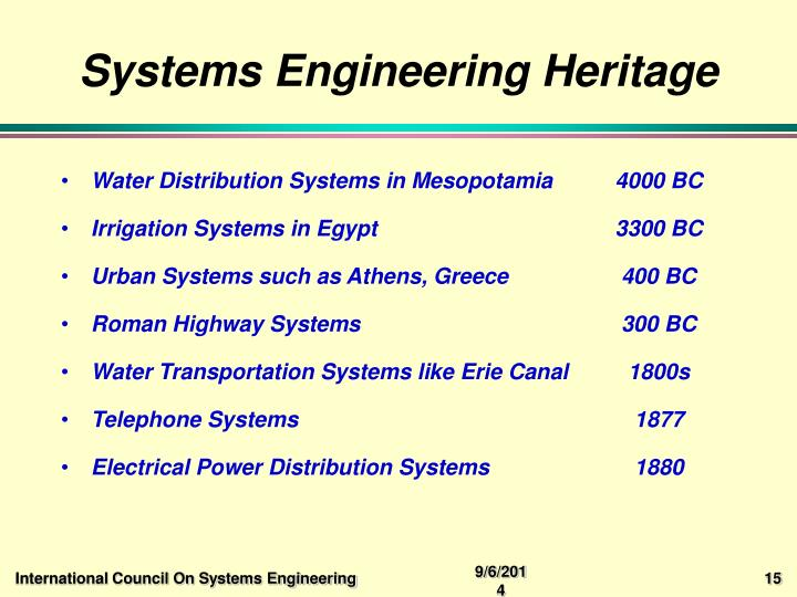 Systems Engineering Heritage