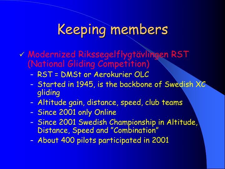 Keeping members