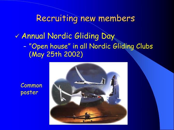 Recruiting new members