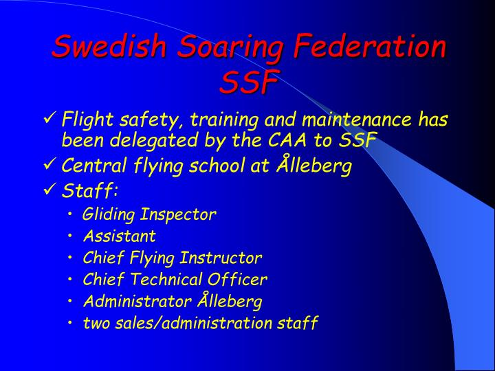 Swedish soaring federation ssf