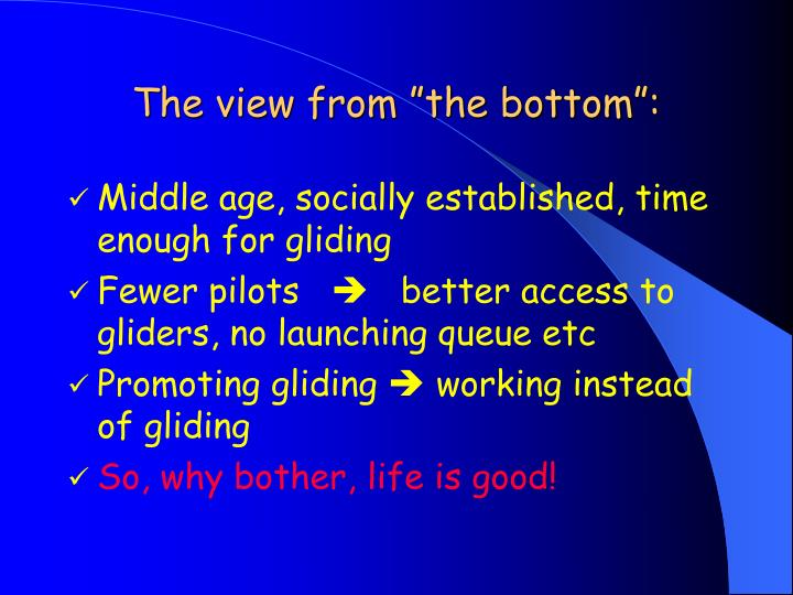 """The view from """"the bottom"""":"""