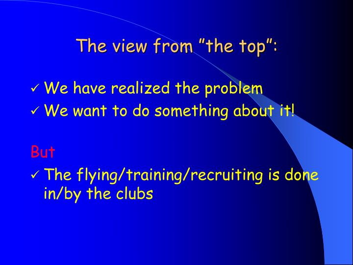 """The view from """"the top"""":"""