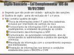 sigilo banc rio lei complementar 105 de 10 01 2001