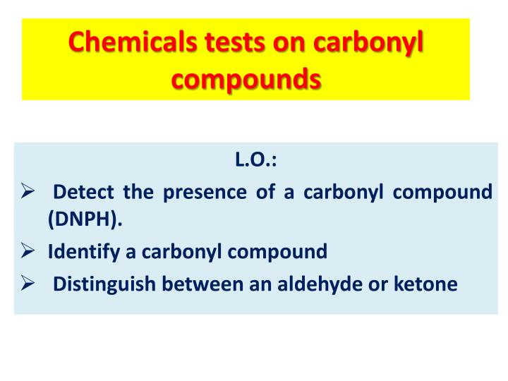 identification of carbonyl compounds essay