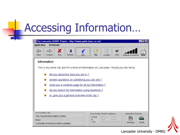 Accessing Information…