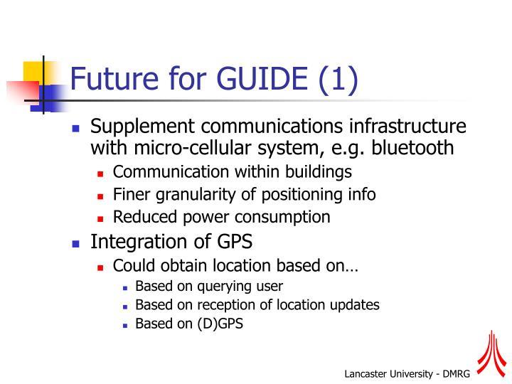 Future for GUIDE (1)