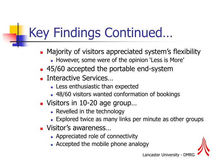 Key Findings Continued…