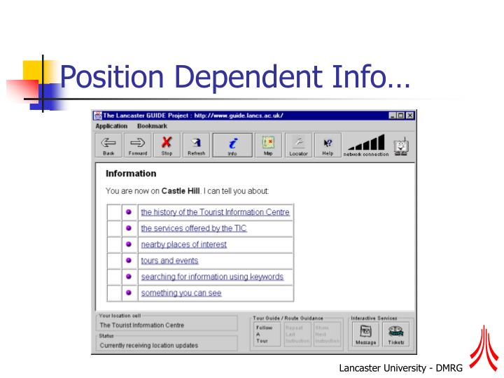 Position Dependent Info…