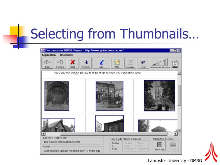 Selecting from Thumbnails…