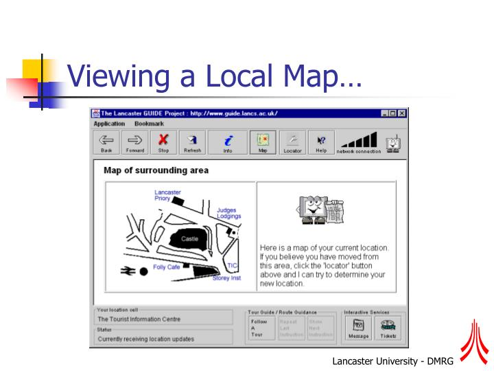 Viewing a Local Map…