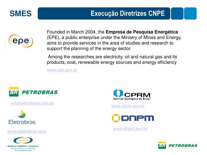Execução Diretrizes CNPE