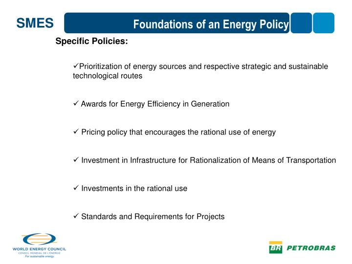 Foundations of an Energy Policy