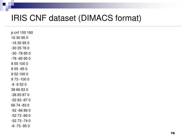 IRIS CNF dataset (DIMACS format)