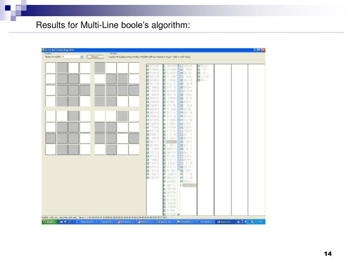 Results for Multi-Line