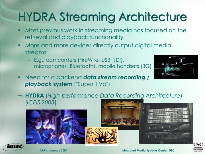 HYDRA Streaming Architecture