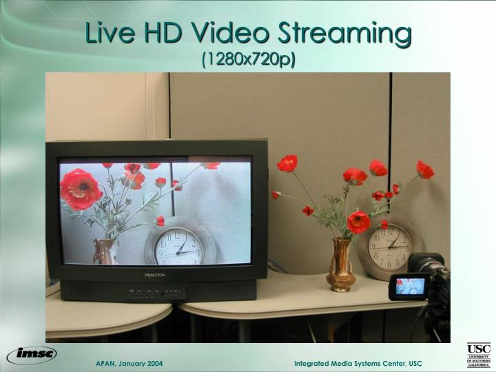Live HD Video Streaming