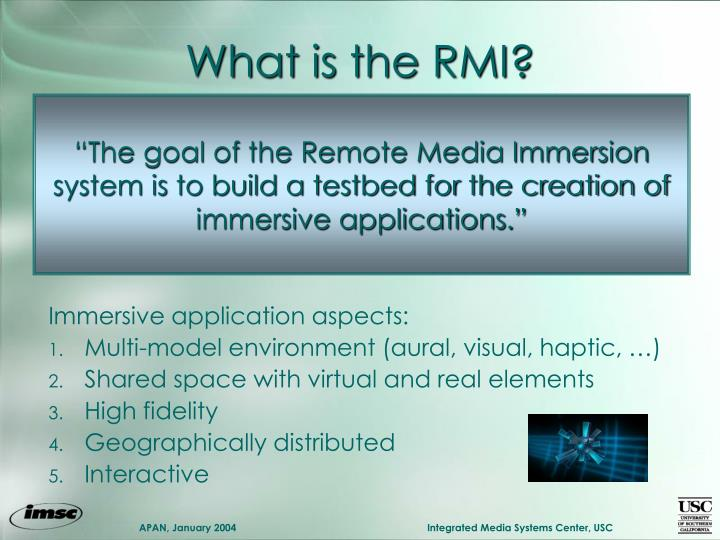 What is the RMI?