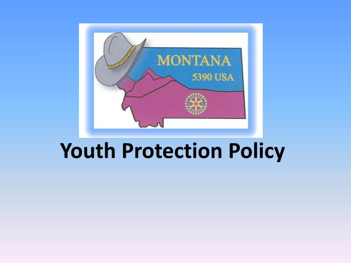 youth protection policy n.