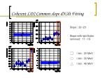 coherent ld2 common slope dn dt fitting