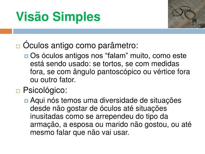 Visão Simples