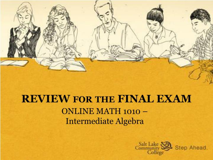 review for the final exam n.