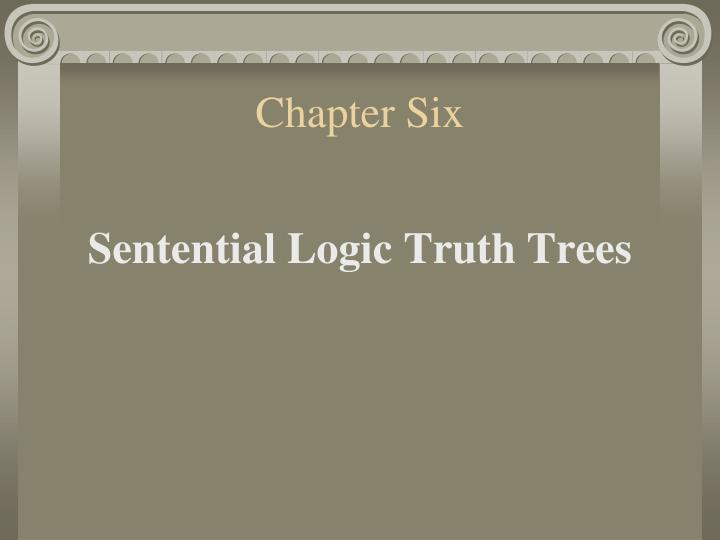 chapter 6 logic Gary hardegree: symbolic logic: a first course (older edition) chapter 0 : table of contents : chapter 1: basic concepts of logic: chapter 2: truth-functional connectives: chapter 3: validity in sentential logic.