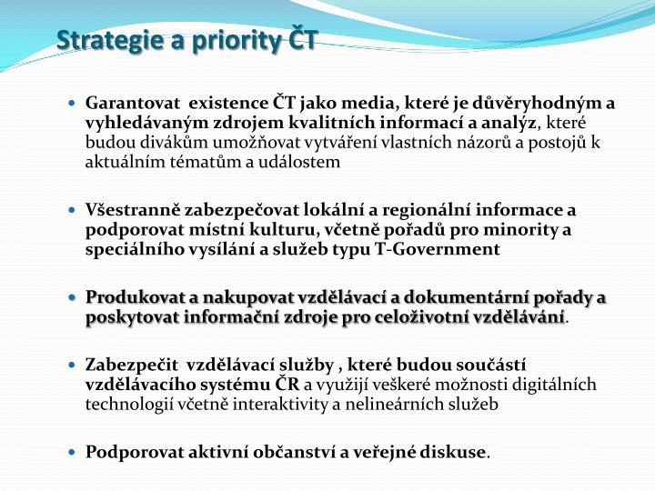 Strategie a priority ČT