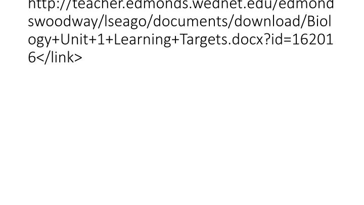 http://teacher.edmonds.wednet.edu/edmondswoodway/lseago/documents/download/Biology+Unit+1+Learning+Targets.docx?id=162016</link>