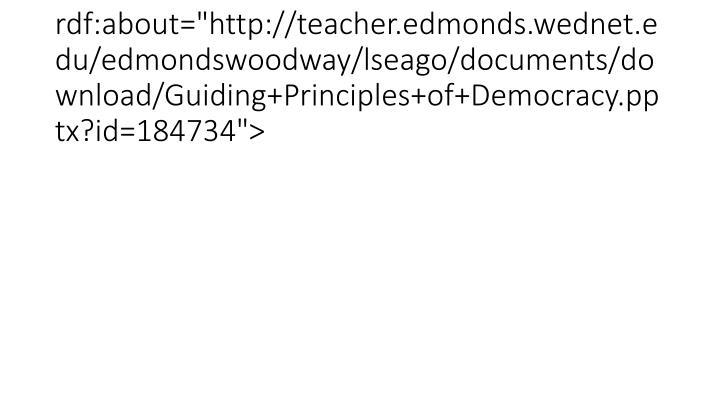 "<item rdf:about=""http://teacher.edmonds.wednet.edu/edmondswoodway/lseago/documents/download/Guiding+Principles+of+Democracy.pptx?id=184734"">"