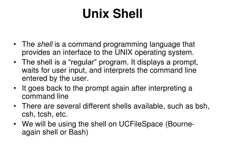 Unix shell
