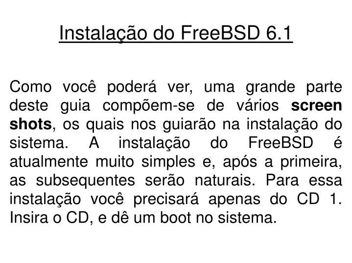 Instala o do freebsd 6 12